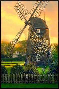 Windmill in Sunlight . East Hampton, NY, United States