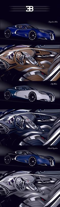 BUGATTI GANGLOFF CONCEPT CAR , INVISIUM by Paweł Czyżewski, via Behance. I want one!