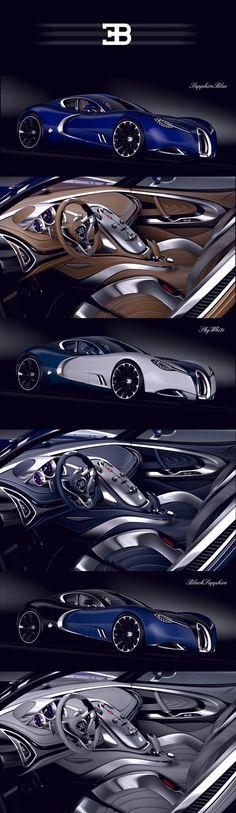 BUGATTI   GANGLOFF   CONCEPT CAR , INVISIUM by Paweł Czyżewski, via Behance. I want one!