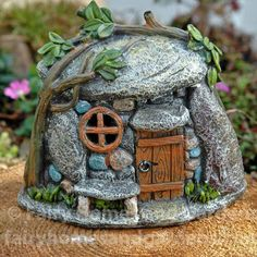 Fairy Homes and Gardens - Miniature Garden LED Troll House, $14.79 (https://www.fairyhomesandgardens.com/miniature-garden-led-troll-house/) #miniaturegardens