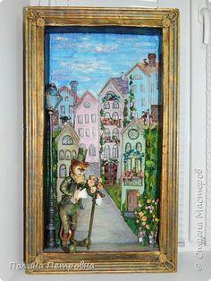 Картина панно рисунок Аппликация Папье-маше Дорога в сказку -объемная картина Бумага Картон Клей Салфетки фото 1
