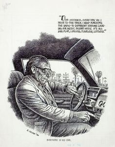 Robert Crumb, a great cartoonist and vastly under rated artist in general.
