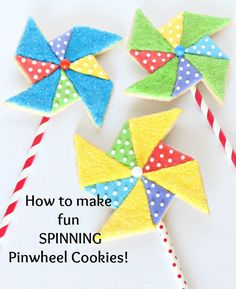 Learn how to make these Pinwheel Cookies that actually SPIN! (Video tutorial and step-by-step photos)