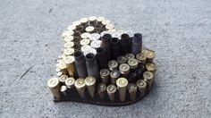 Mosaic Heart Gun Shell Casing Art/ Wall by PiecesofhomeMosaics, $25.00