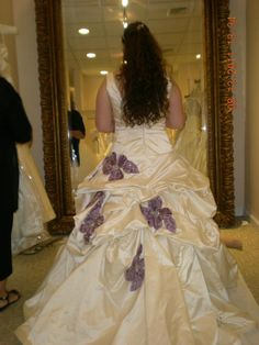 The back of my custom couture Monique Lhuillier Schiaparelli #wedding dress at my last fitting
