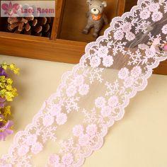 Cheap Solubile in acqua pizzo ricamato rosso/rosa/black cotton lace trim fai da…