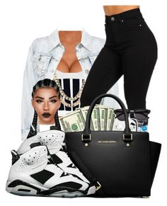 """""""oreo6s"""" by ballislife ❤ liked on Polyvore featuring BaubleBar, MICHAEL Michael Kors and NIKE"""