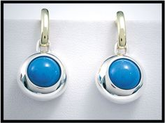 """18Kt Gold and Sterling Silver Orbis """"Dangle"""" Earrings"""