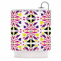 "Miranda Mol ""Summer Mood"" Yellow Purple Shower Curtain - KESS InHouse"