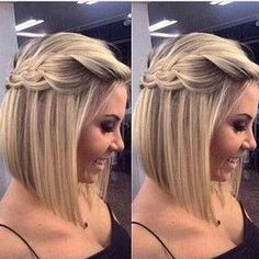 Medio recogido mitad hacia abajo de la trenza de pelo dama de honor