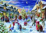 Christmas Celebrations-1000 piece Christmas scene jigsaw puzzle by Artist Marcello Corti