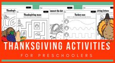 Fun and free Thanksgiving worksheets for preschoolers