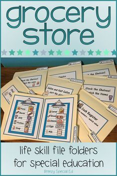 Special Education Grocery Store File Folder Activities - Life skill file folders for the win! Have students practice skills including matching, sizes, money - Life Skills Lessons, Life Skills Activities, Teaching Life Skills, Money Activities, Montessori Activities, Free Activities, Life Skills Classroom, Special Education Classroom, Education Quotes For Teachers
