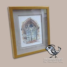 The customer for this piece is a carpenter by trade and gave us a free hand on the framing, so we had to select a nice piece of oak for the frame and do something a bit special with it. We opted to use a button polish to finish the wood, this is a type of French Polish and has given the wood this glorious warm colour, inside we used a double mount and the top mount has been floated to give a shadow effect. UV glass finishes the piece off, protecting the artwork.