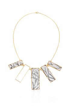 Rectangle Necklace Statement Necklace Fabric by daniellekeller, $450.00
