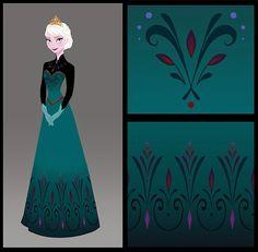 Elsa concept art by Brittney Lee : disney_frozen Frozen Art, Elsa Frozen, Disney Frozen, Frozen 2013, Frozen Dress, Elsa Coronation Dress, Elsa Dress, Snow Queen, Disney And Dreamworks