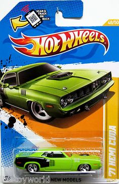 1971 Plymouth HEMI Cuda. Authentic color & detail. Hot Wheels 2012 New Model #48/50