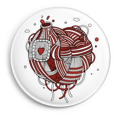 Round pin button - Love machine - Camaloon US
