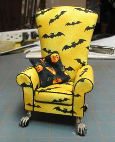 how to make  miniture doll house halloween items | Dollhouse Miniature Furniture - Tutorials | 1 inch minis
