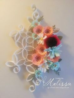 Stampin' Up! Build A Bouquet wall art - FREE TUTORIAL - by Melissa Davies @ rubberfunatics