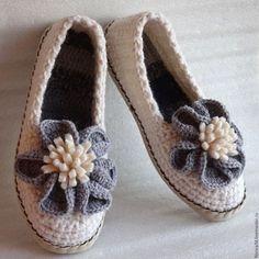 Crochet home shoes / Обувь ручной работы. Ярмарка Мастеров - ручная работа…