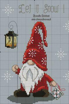 Santa Cross Stitch, Cross Stitch Charts, Cross Stitch Designs, Cross Stitching, Cross Stitch Embroidery, Cross Stitch Geometric, Cross Stitch Christmas Ornaments, Christmas Cross Stitch Patterns, Crochet Cross