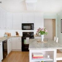 When you don't live in stone countertop house, laminate kitchen countertops are a great solution. Get the stone look without the expensive price!