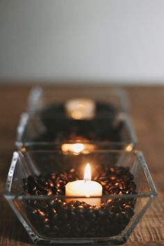 vanilla & coffee beans candles...definitely doing this