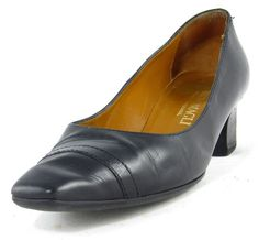 Bruno Magli Heels Italian Hand Made Classic Black Leather Pumps Wide Shoes Sz 8 | eBay