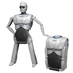 I want the little guy on my desk.  TOSY mRobo: Portable speaker that transforms into a dancing robot