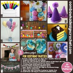 It's Friday! This week we have 20 free crochet patterns perfect for Birthday Parties. I hope you enjoy the ideas and find something to add a little homemade to your next event! Visit this link to browse through more Free Crochet Pattern Friday Posts.   To subscribe to my Week In Review Newsletter please complete the …