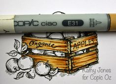 coloring wood - copics - bjl