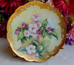 Antique Limoges Porcelain Hand Painted Artist Signed Plate