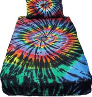 Stained Glass Tie Dye Duvet Cover
