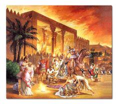 Alexander and the Greek Seleucids Burning & Plundering Persepolis in Persia