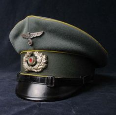 Heer Signal NCO's Dress Peak Vsor Cap By Erel. Distributed by Edward Sachs.