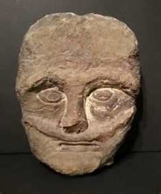 Celtic stone head,