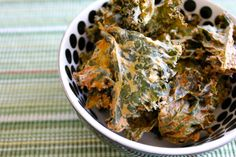These vegan Sour Cream & Onion Kale Chips are a healthy and tasty alternative to potato chips.