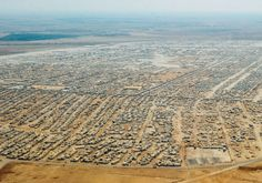 An aerial view shows the sprawling Zaatari refugee camp in Jordan in July 2013 Photo By: REUTERS