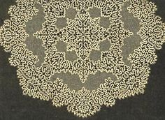 Idria Braided Lace  This elegant twelve-inch medallion was made with tiny bobbin-made trails of linen stitch and intermittent half stitch, a more open weave. The background was filled afterwards with a bobbin-made réseau (mesh)