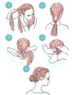French braids for long hair