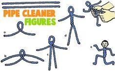 Pipecleaner Crafts for Kids : Arts and Crafts Activities with Pipe Cleaners & Chenille Stems for Children & Preschoolers. Pfeifenreiniger mit Geld als Geschenk Pipe Cleaner Art, Pipe Cleaner Animals, Pipe Cleaners, Projects For Kids, Diy For Kids, Art Projects, Crafts For Kids, Children Crafts, Fun Crafts