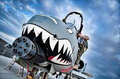 U.S. Air Force A-10 Thunderbolt II #military #armedforces #aircraft #airforce #aviation #usaf #a10 #thunderbolt #warthog