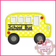 Free Embroidery Designs - School Bus Applique With Mini & Felt Clippie 4x4 5x7 6x10 SVG - Welcome to Lynnie Pinnie.com! Instant download and free applique machine embroidery designs in PES, HUS, JEF, DST, EXP, VIP, XXX AND ART formats.