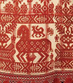 Russian Apron, 1830–70 Culture, linen, cotton