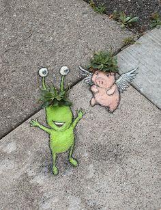 David Zinn (@davidzinn_art) / Twitter David Zinn, Street Mural, Sidewalk Art, Chalk Drawings, Illusion Art, Chalk Art, Street Artists, Illusions, Cool Pictures