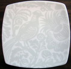 Decorative Dishes - Mini Gray on White Bird Leaves Square Plate Tile Square Plate Set, Wall Groupings, Tile, Leaves, Gray, Dishes, Pretty, How To Make, Dining Room