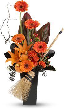 halloween flower designs