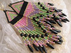seed beed jewelry diy | Beadwork Seed Bead Beadwoven Earrings by ... | diy/ crafts: jewelry