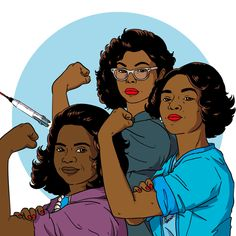 """Three women who made incalculable contributions to the space program: engineer Mary Jackson, mathematician Katherine Johnson and NASA supervisor Dorothy Vaughan."""